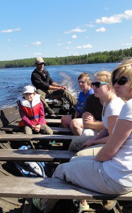 Familie Bootsausflug
